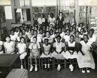Summer reading closing exercises, Dart Hall Branch Library, 1953 (3)