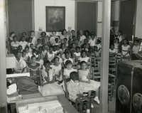 Summer reading closing exercises, Dart Hall Branch Library, 1956