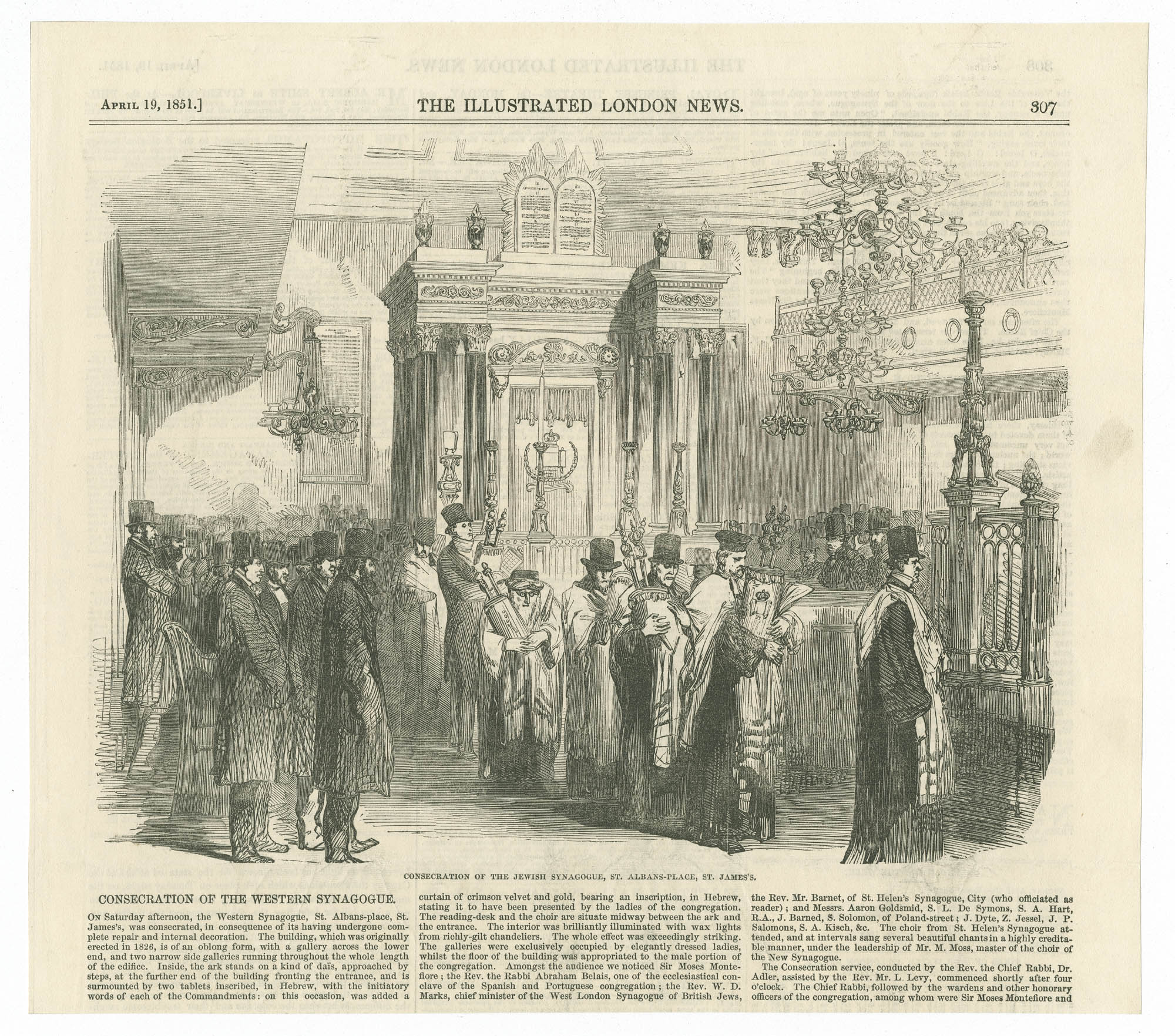 Consecration of the Jewish Synagogue, St. Albans Place, St. James's