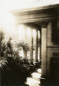 Exterior view of portico, Main Library