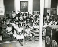 Summer reading closing exercises, Dart Hall Branch Library, 1955 (1)