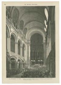L'intérieur de la nouvelle synagogue de la rue de la Victoire, le jour du grand pardon