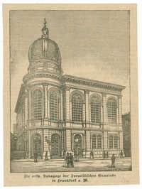 Die orth. Synagoge der Israelitischen Gemeinde in Frankfurt a. M.
