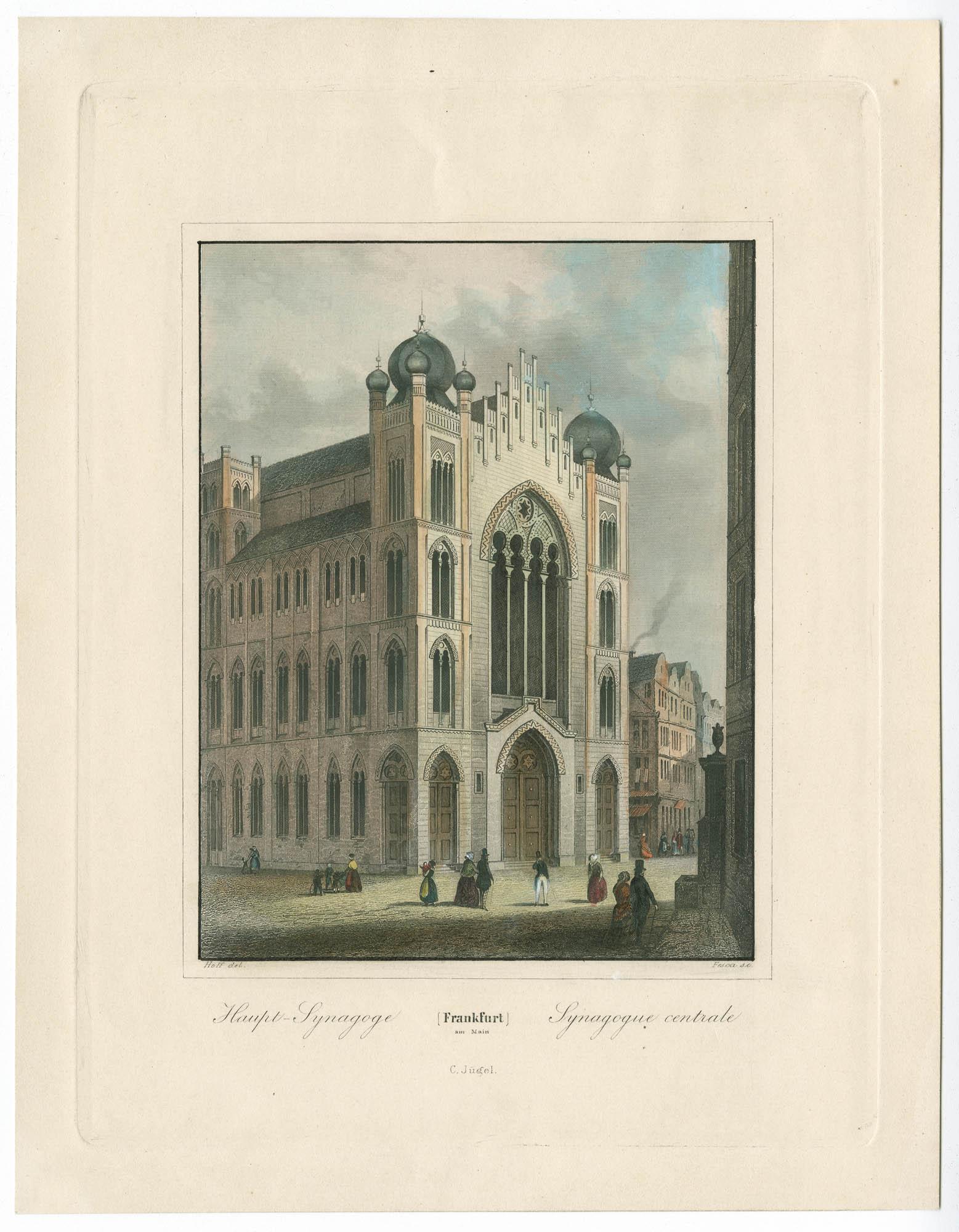 Frankfurt am Main. Haupt-Synagoge / Synagogue centrale