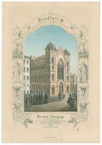 Die neue Synagoge der israelit. Gemeinde eingeweiht am 23. März 1860