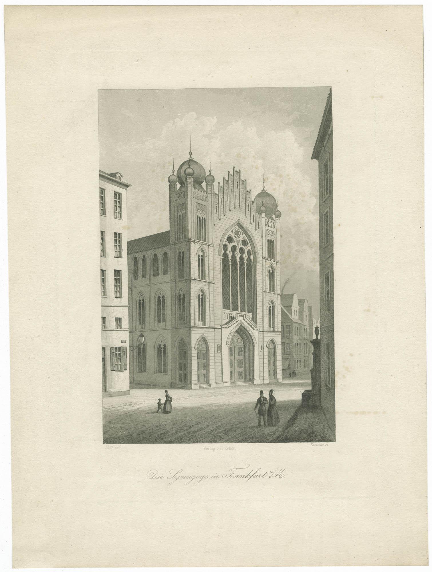 Die Synagoge in Frankfurt a/M.