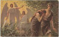 Adam und Eva aus dem Paradiese vertrieben
