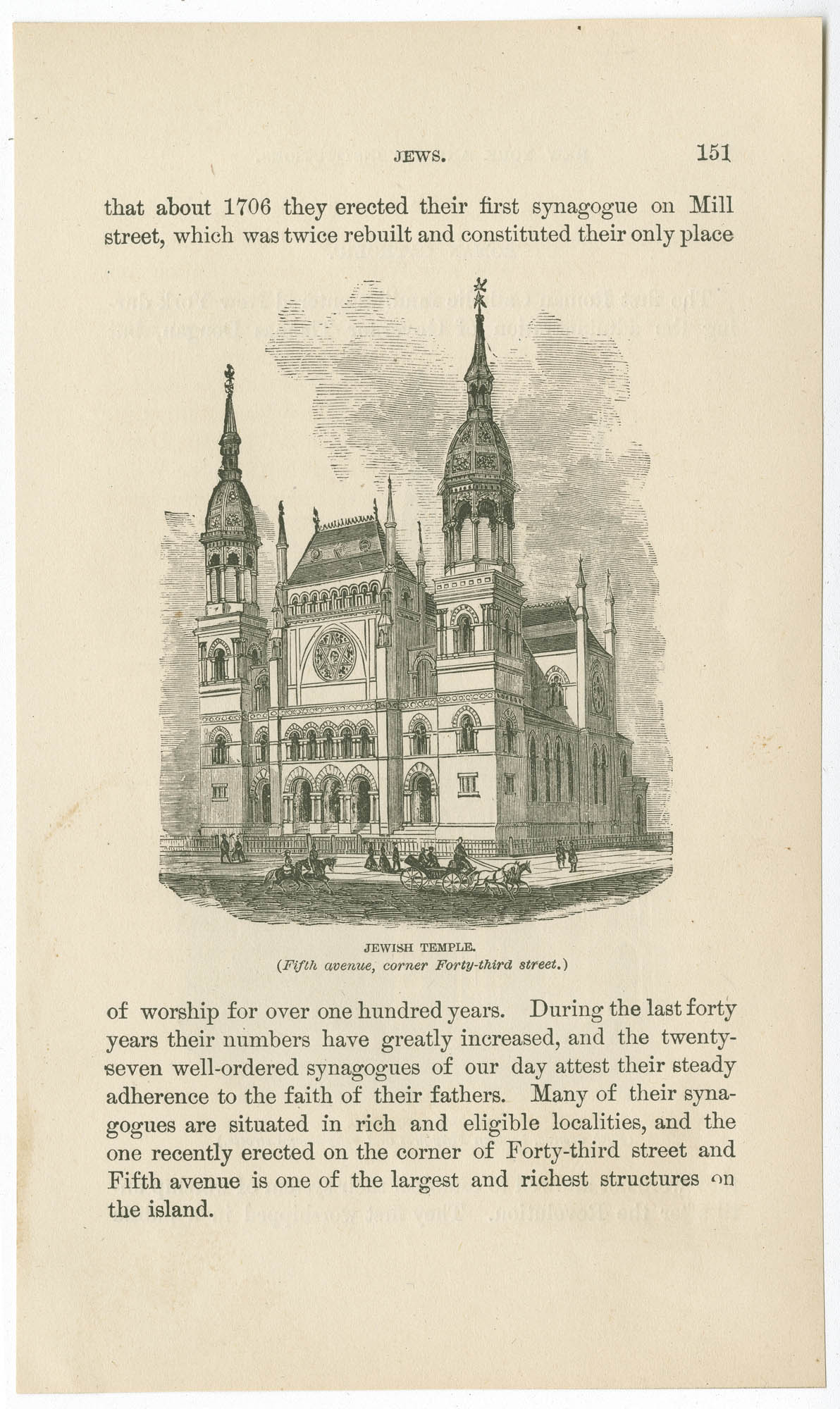 Jewish Temple (Fifth Avenue, corner Forty-Third Street)