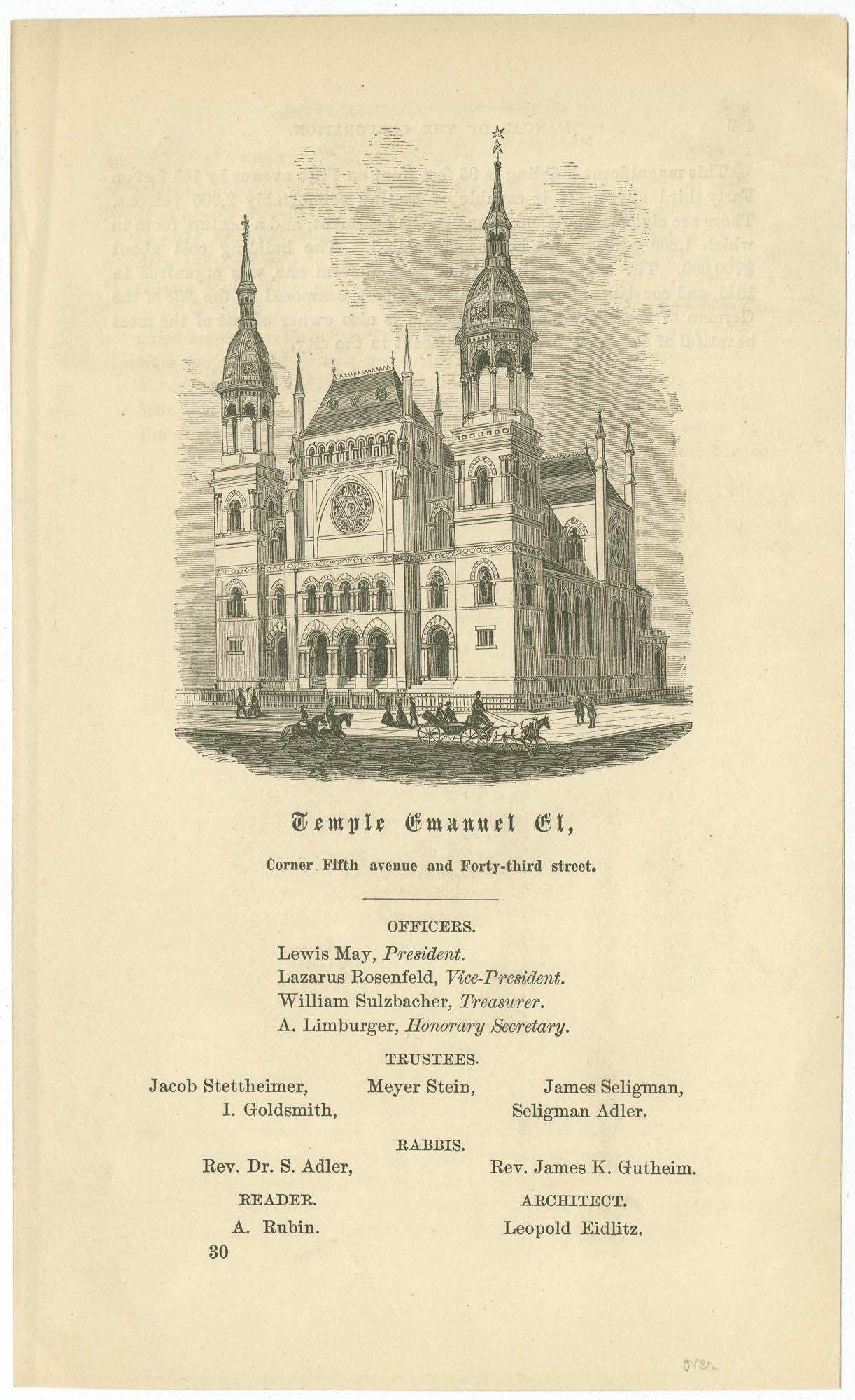 Temple Emanuel El, corner Fifth Avenue and Forty-Third Street