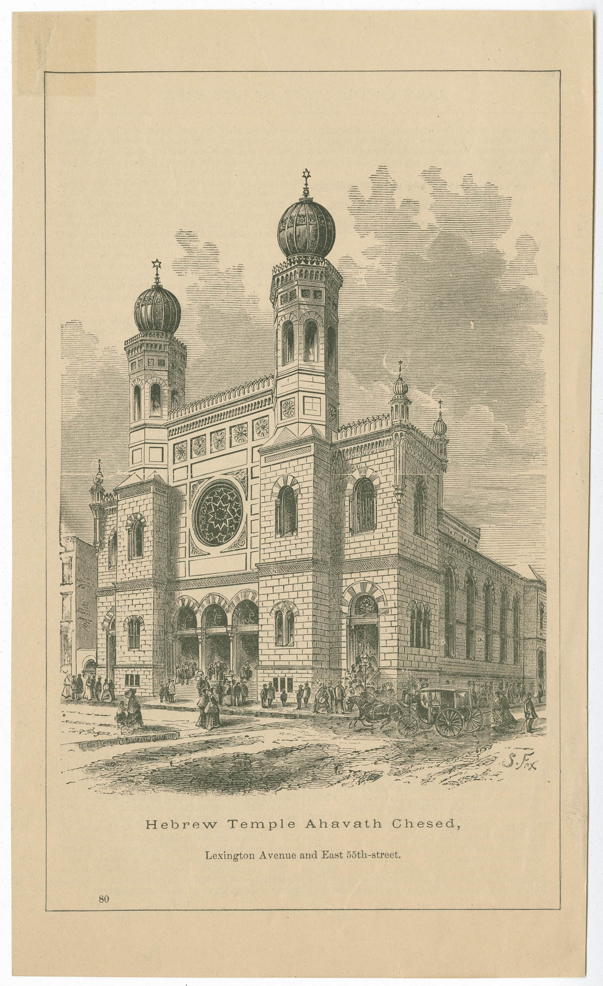 Hebrew Temple Ahavath Chesed, Lexington Avenue and East 55th Street