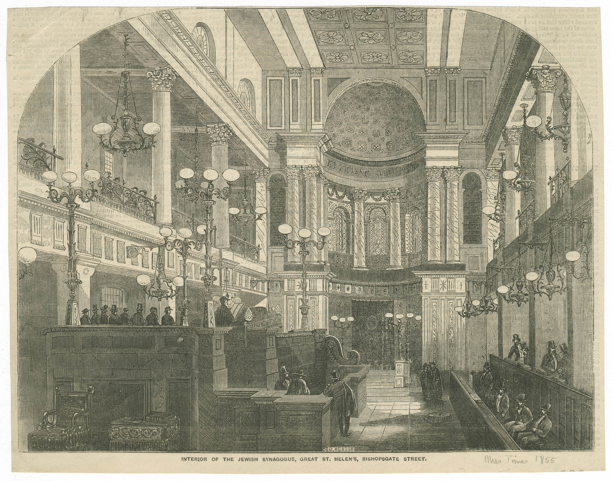 Interior of the Jewish Synagogue, Great St. Helen's, Bishopsgate Street