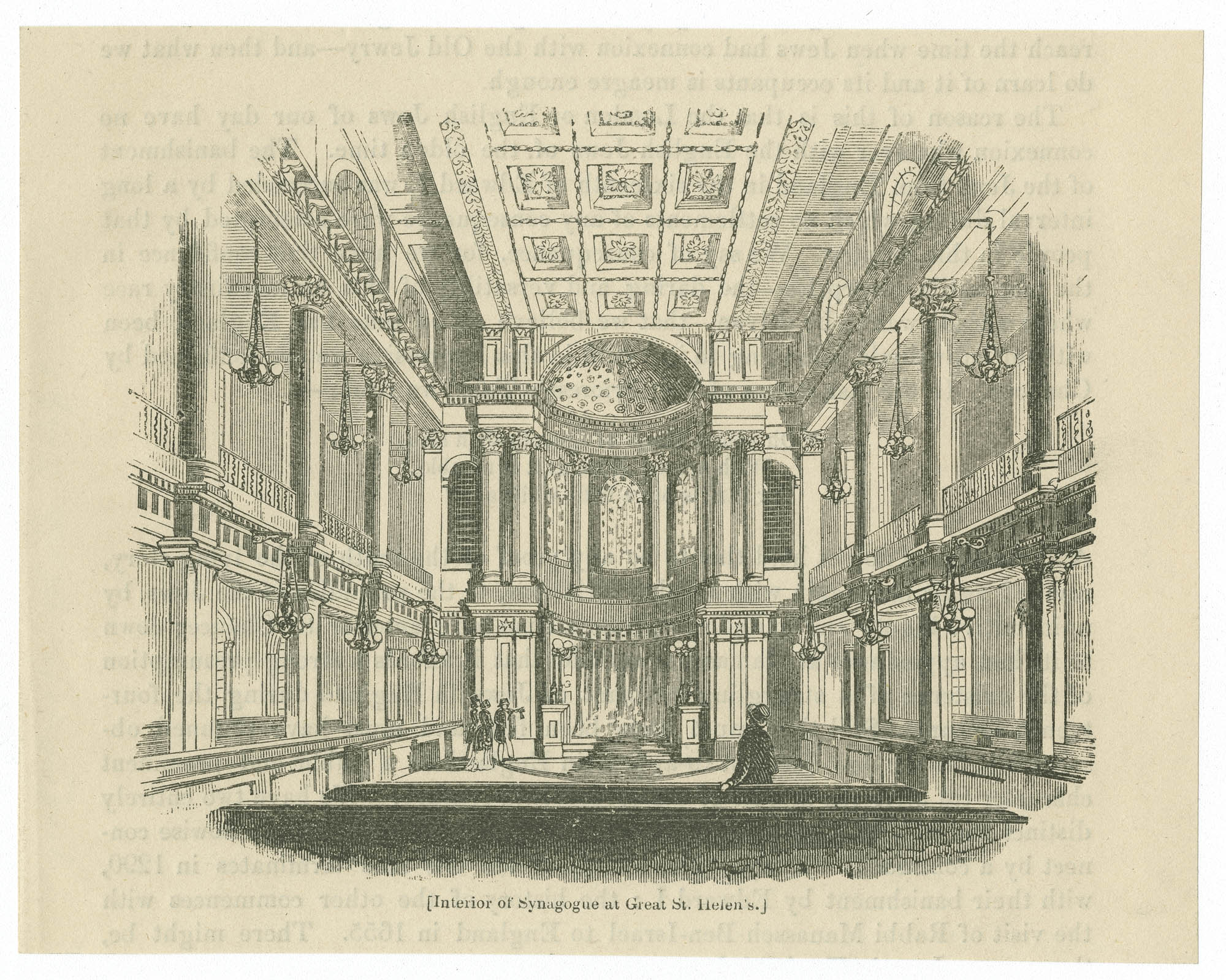 Interior of Synagogue at Great St. Helen's