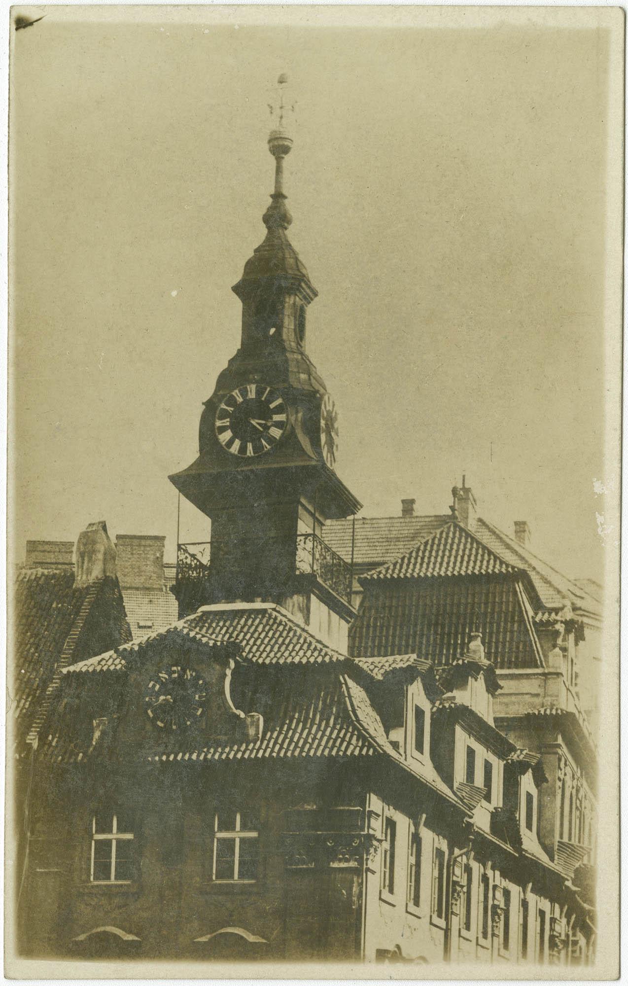 Jüdisches Rathaus mit hebräischer Uhr, Prag