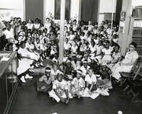 Summer reading closing exercises, Dart Hall Branch Library, 1957