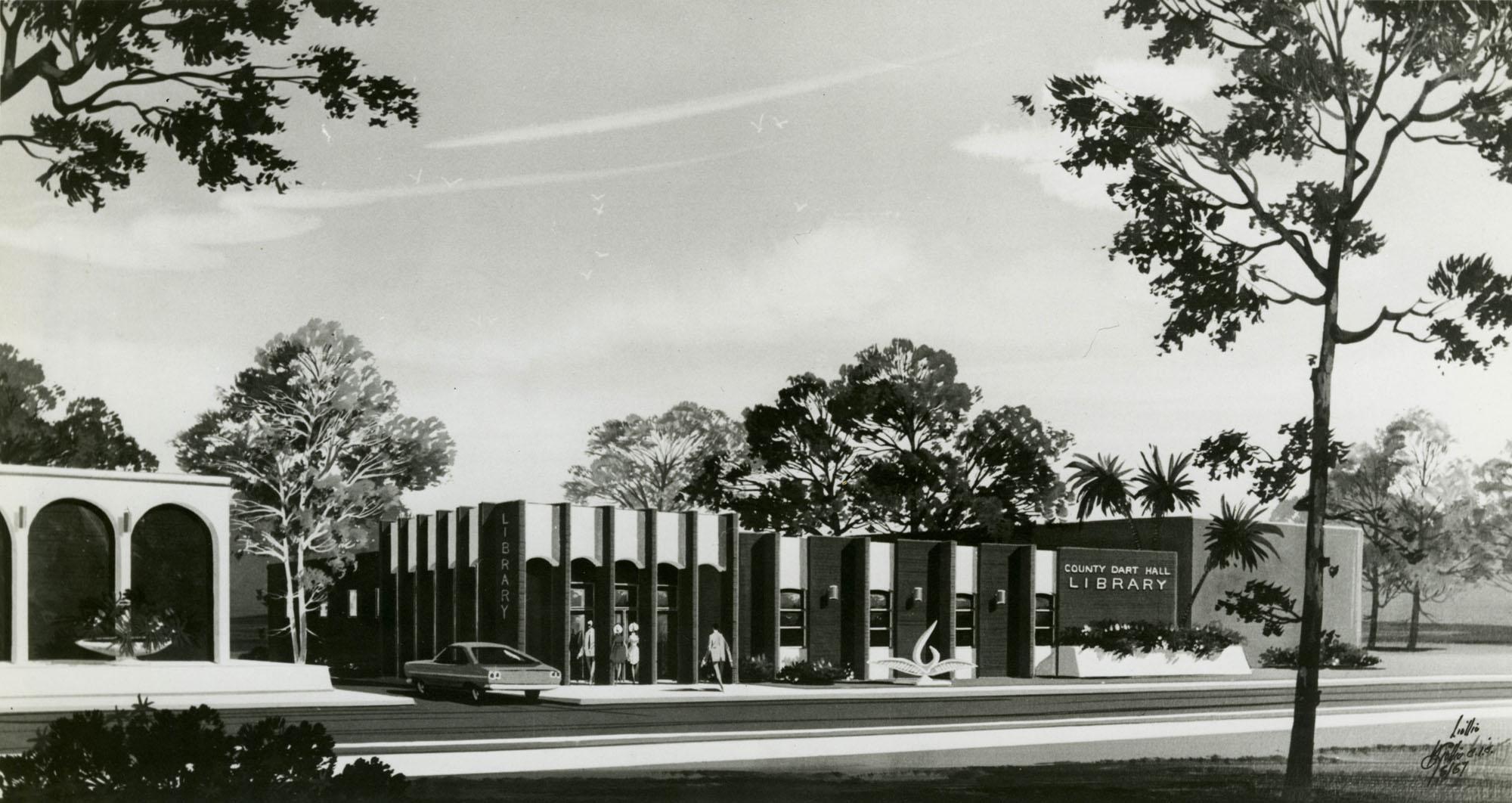 Architect's rendering, John L. Dart Branch Library