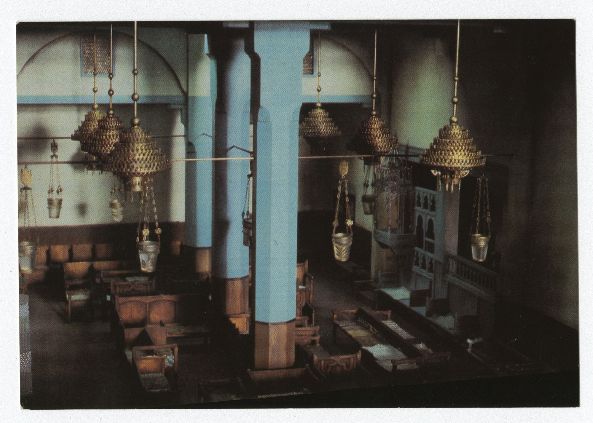 Interior of Danan Synagogue in Fez, Morocco. Mid-17th century. Model. / פנים בית הכנסת דנאן ספאס שבמרוקו. אמצע המאה ה-17. שיחזור