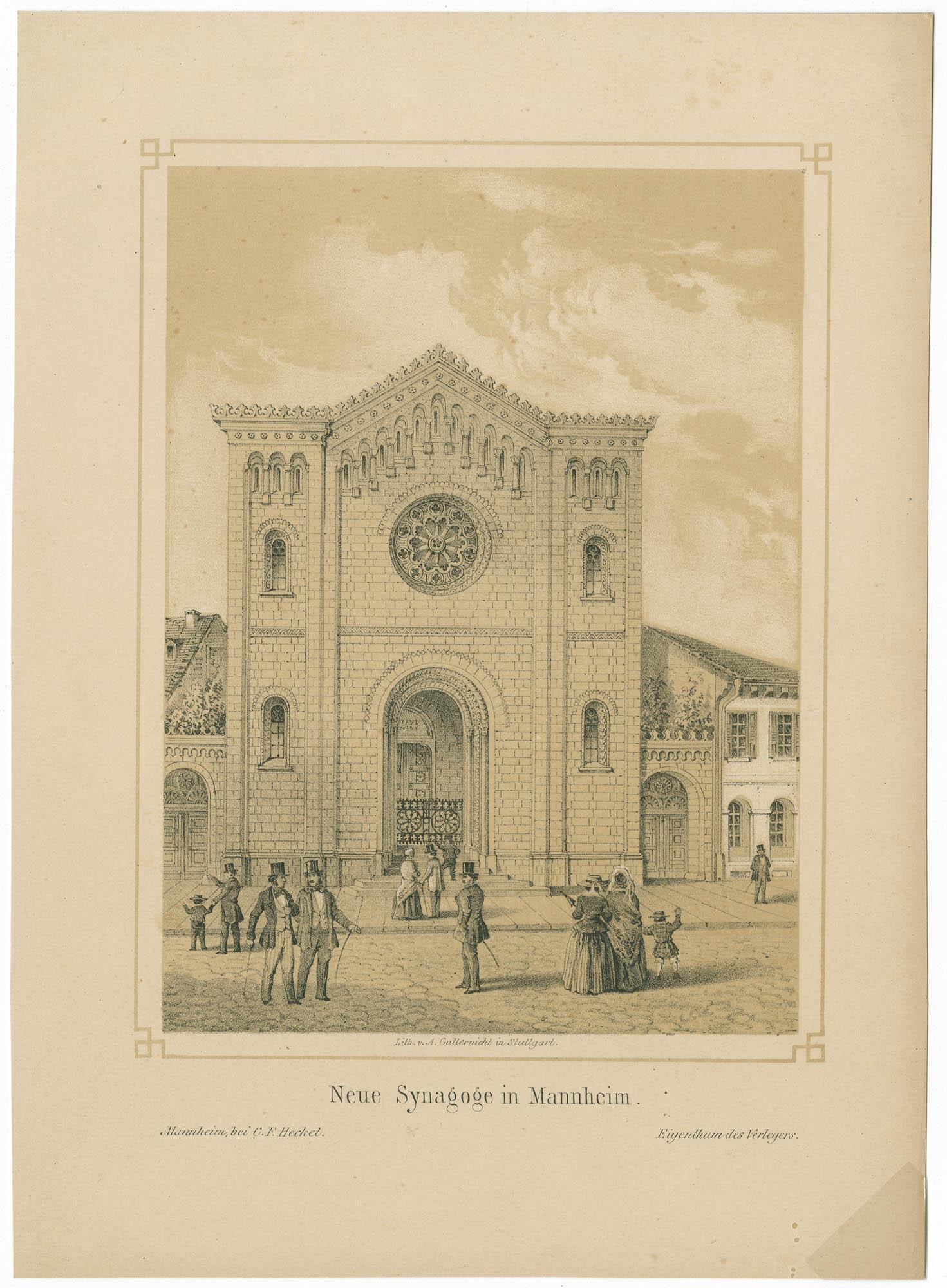 Neue Synagoge in Mannheim