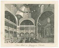 Das Innere der Synagoge in Dresden