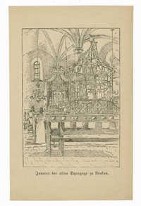 Inneres der alten Synagoge zu Krakau