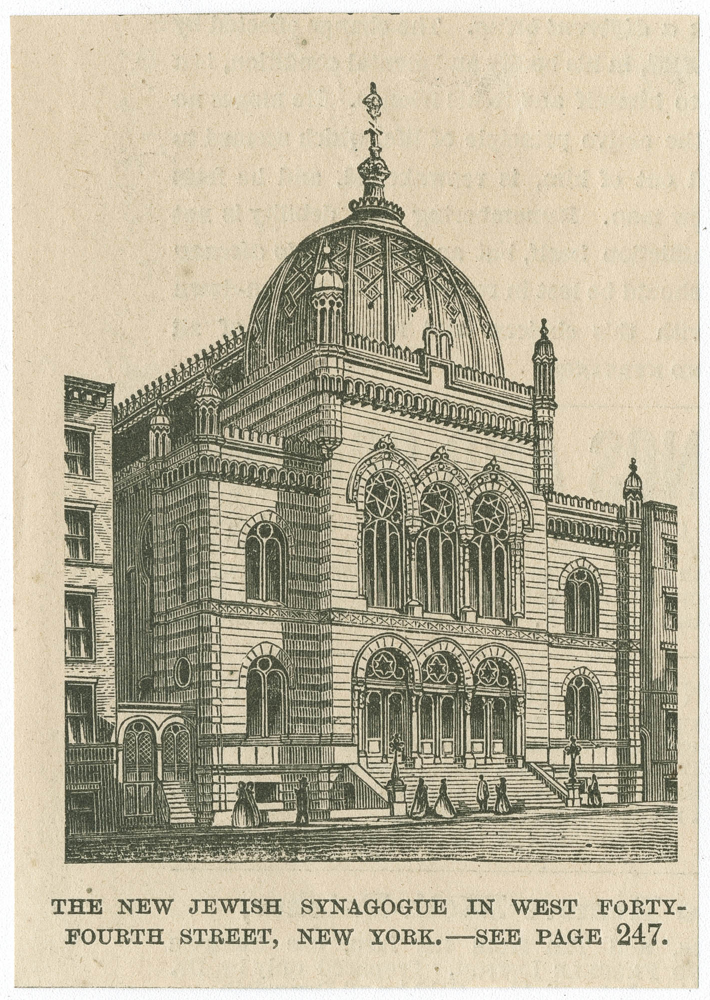The new Jewish Synagogue in West Forty-Fourth Street, New York