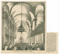 Interior view of the Jewish Synagogue, Clinton St.
