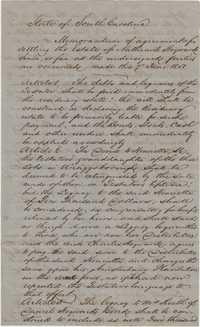 124. Agreement for settling the Estate of Nathaniel Heyward -- June 7, 1851