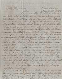 144. C. R. Hains to James B. Heyward -- January 21, 1855