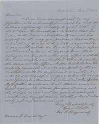 120. James B. Heyward to Francis D. Quash -- January 1, 1851
