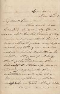 170. James B. Heyward to (unknown) -- November 12, 1861