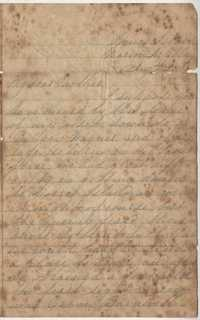 197. Francis William Heyward to Mother -- August 23, ca. 1863
