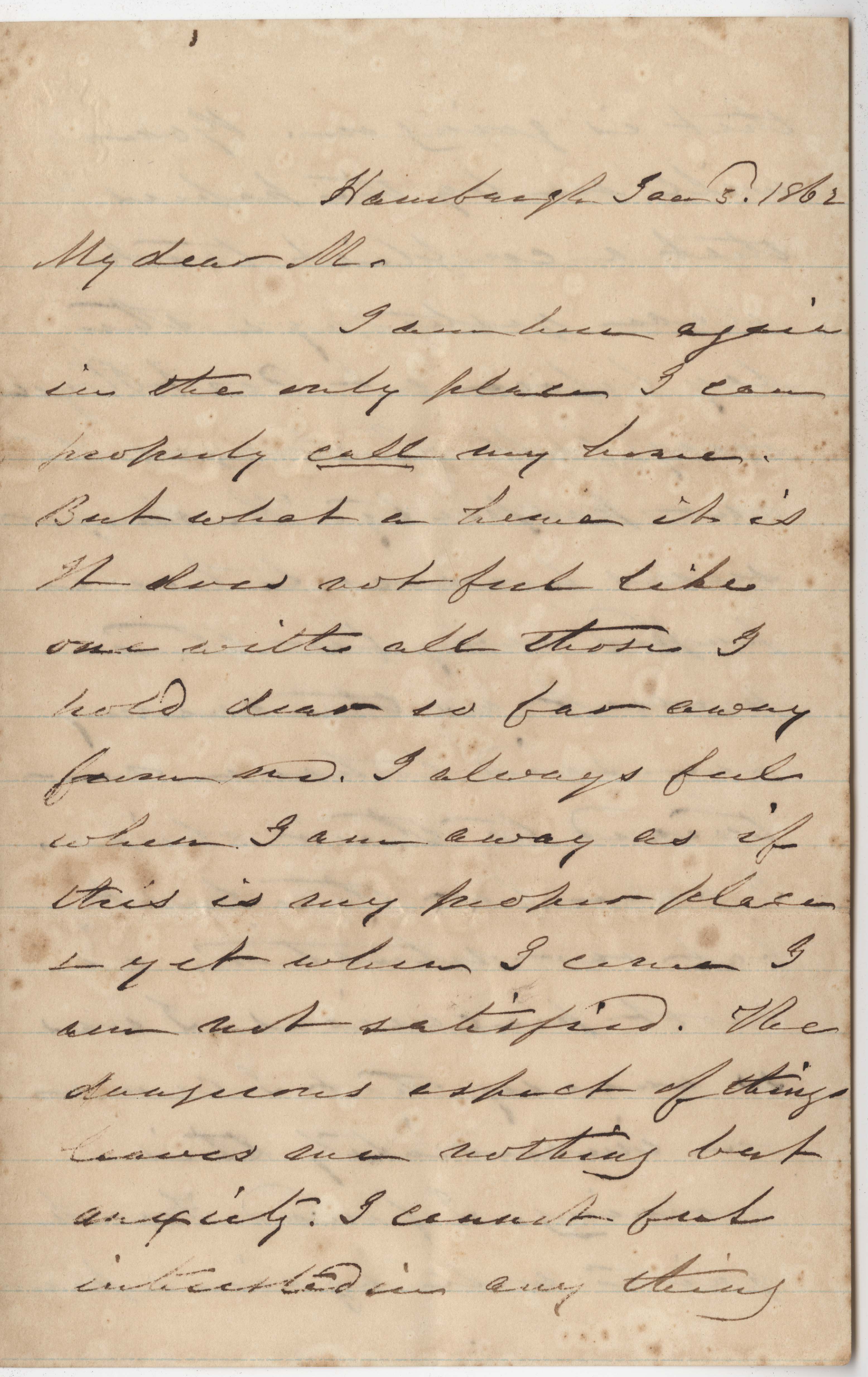174. James B. Heyward to Maria Heyward -- January 3, 1862