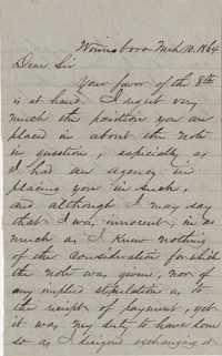 212. H.L. Elliott to James B. Heyward -- March 10, 1864