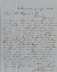 165. W.C. Bee to James B. Heyward -- April 9, 1861