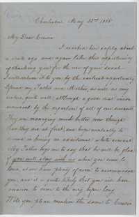 243. G.E. Manigault to James B. Heyward -- May 22, 1865