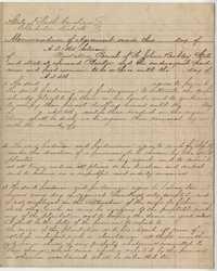 233. Memorandum form for freedmen and women as laborers on a plantation -- 1865