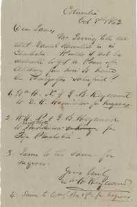 203. William Henry Heyward to James B. Heyward -- October 8, 1863