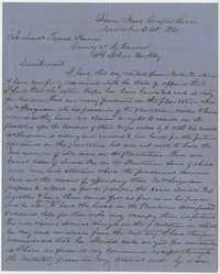 263. F.M. Montell to Lt. James Hann -- November 21, 1865