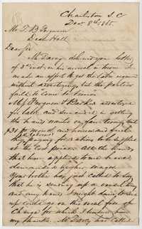 265. William McBurney to Thomas B. Ferguson -- December 8, 1865