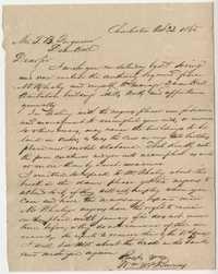 259. William McBurney to Thomas B. Ferguson -- October 23, 1865