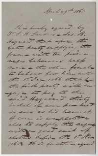 242. Agreement between Dr. S. H. Sanders and James B. Heyward -- April 29, 1865