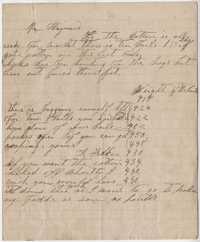 231. Note to James B. Heyward from R. Felker -- ca. 1865