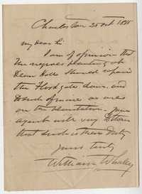 260. William Whaley to William McBurney -- October 25, 1865
