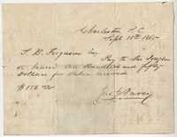 256. Request to T.B. Ferguson from John J. Darcy -- September 18, 1865
