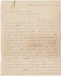 318. James B. Heyward to Joseph Daniel Pope -- December 27, 1870