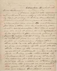 279. James B. Heyward to William (Henry Heyward) -- March 16, 1866