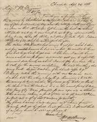 288. William McBurney to Thomas B. Ferguson -- April 24, 1866 (Second letter)