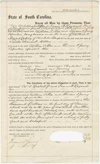 316. Bond between James B. Heyward & others -- January 22, 1870