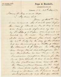 319. Joseph Daniel Pope to James B. Heyward -- December 28, 1870