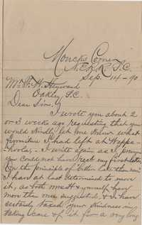 346. Lewis Lucas to F. W. Heyward -- September 14, 1890