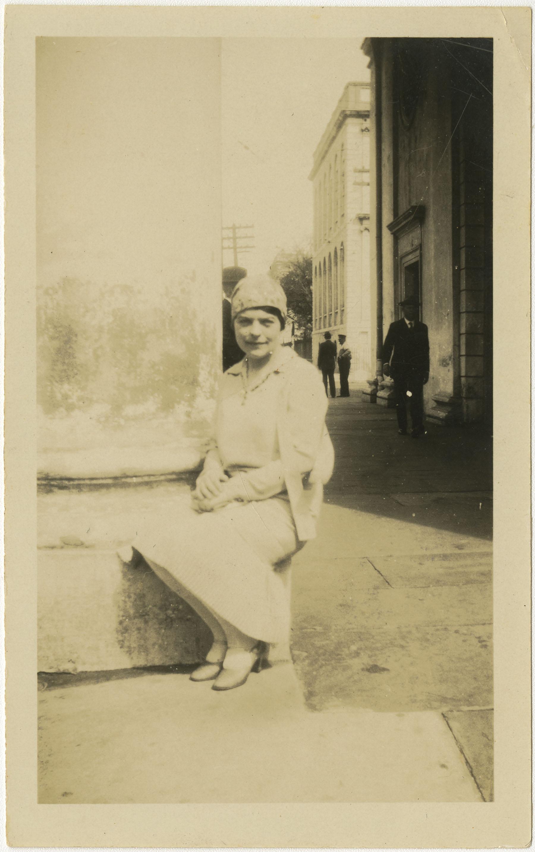Seated on Column